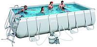 Каркасный бассейн BestWay 56390 прямоугольный 488*274*122 см с фильтр-насосом 220V