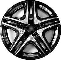 Колпаки на колеса диски для дисков R13 серо / черные SL/BK Дакар Супер Блэк колпак