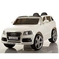 Детский электромобиль Джип Audi Q5 M 3290 EBLR-1 белый, кожаное сиденье и мягкие колеса