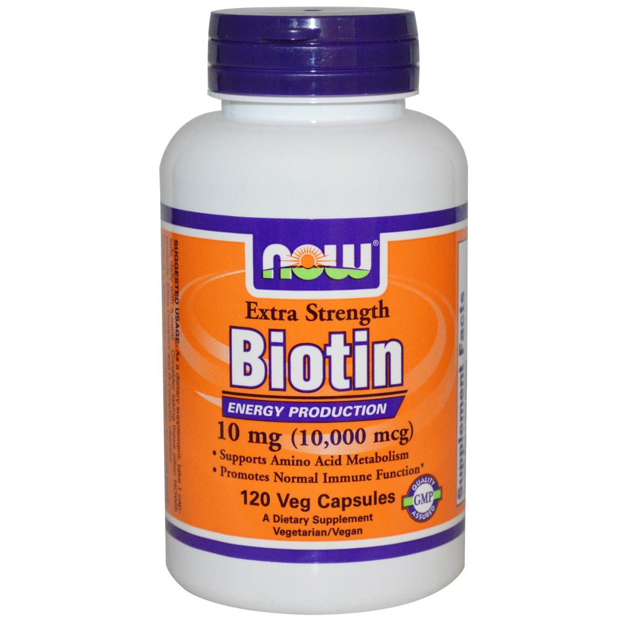NOW Foods Biotin 10mg 120 caps
