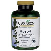 Swanson Premium Acetyl L-Carnitine 500 mg, 240 капс