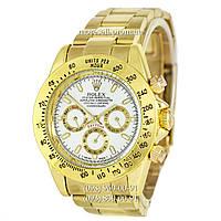 Часы Rolex Daytona AA Men Gold-White