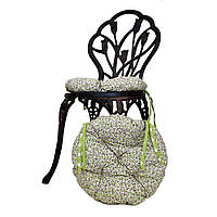Круглая подушка на стул Олива цветы