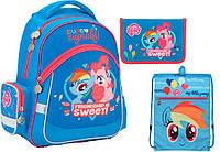 """Комплект школьный. Рюкзак """"My Little Pony"""" LP17-521S, Пенал и Сумка, ТМ  KITE"""