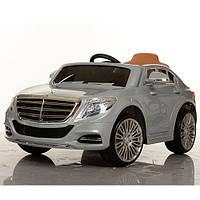 Детский электромобиль Mercedes Benz ZP 8003 EBLR-11 серебро, мягкие колеса и кожаное сиденье
