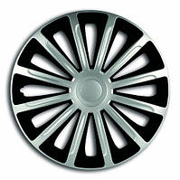 Колпаки на колеса диски для дисков R13 серо / черные SL/BK Тренд Супер Сильвер колпак