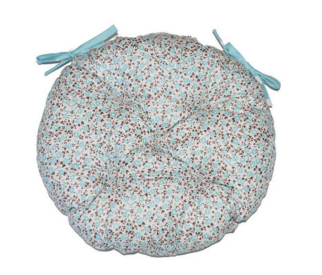 Круглая подушка на стул Тиффани цветы