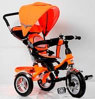 Трехколесный велосипед-коляска TR 16004 оранж ПОВОРОТНОЕ СИДЕНЬЕ