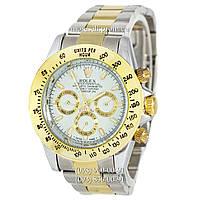 Часы Rolex Daytona Men Silver-Gold-White