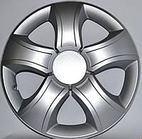 Колпаки на колеса диски для дисков R13 серые Silver Бис колпак