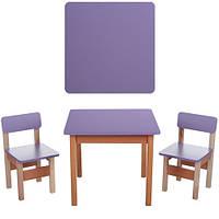Детский столик со стульчиками F096 фиолетовый