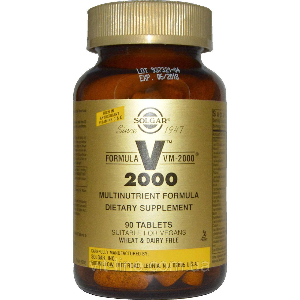 Solgar, Formula VM-2000, Multinutrient Formula , 90 Tablets Комплекс мультивитаминов