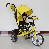 Детский трехколесный велосипед T-345 Camaro с фарой, Жёлтый