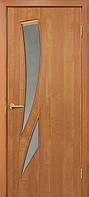Двери межкомнатные Омис  Фиеста экошпон с матовым стеклом, цвет  ольха европейская
