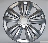 Колпаки на колеса диски для дисков R13 серые Silver Терра колпак