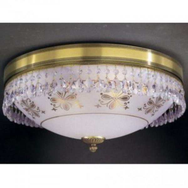 Потолочный светильник RECCAGNI ANGELO PL 6000/4 бронза/serigrafia/transp