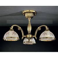 Потолочный светильник RECCAGNI ANGELO PL 6022/3 бронза/serigrafia