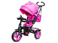 Детский трехколесный велосипед-коляска Neo 4 Air с фарой, Розовый