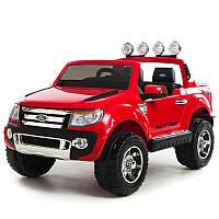 Двухместный детский электромобиль с мягкими колесами Ford Ranger M 2764 EBR-3 красный