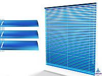Жалюзи гор. 25 мм. синий (776) (металлик) на струне