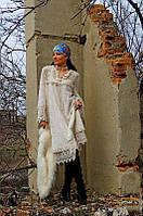 Платье из натурального хлопкового гипюра