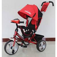 Детский трехколесный велосипед T-345 Camaro с фарой, Красный