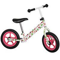 Беговел-велобег Profi Kids 12 дюймов M 3440W-2 (бело-розовый)