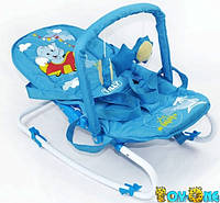 Детский шезлонг-качалка BT-BB-0001 голубая