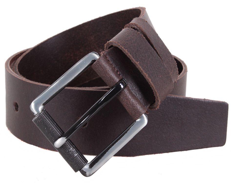 Cтильный кожаный мужской ремень DOVHANI SP999-29 ДхШ: 130х4,5 см коричневый