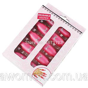 Набор клипс nail (прищепок) для снятия гель-лака, многоразовые 10 шт