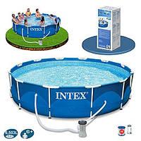 Каркасный бассейн Intex 28212 (56996) (366х76 см, для всей семьи)