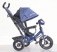 Велосипед 3-х колёсный Best Trike 6588 B (1) СИНИЙ, НАДУВНЫЕ КОЛЕСА, С ФАРОЙ