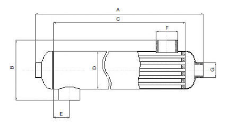 габаритые розміри теплообмінника Vagner OVB 45