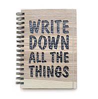 """Блокнот скетчбук """"""""Write down"""" с кремовым внутренним блоком"""