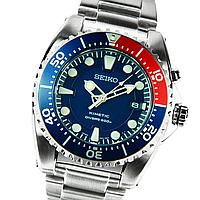 Мужские кварцевые часы Seiko Kinetic SKA369P1 Сейко часы механические автокварц