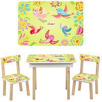 Столик и стульчики детский 503-2 Птички, фото 1