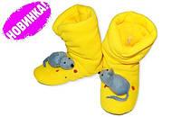 """Прикольные флисовые домашние тапочки """"Мышка"""". Тапочки для всей семьи, любой цвет и размер!"""