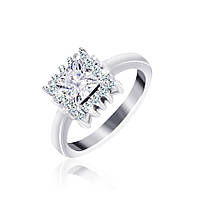 Серебряное кольцо с фианитами Эстер 000025502 17.5 размера