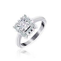 Серебряное кольцо с фианитами Эстер 000025502 18 размера