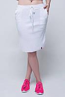 В'язана спідниця з карманами білий