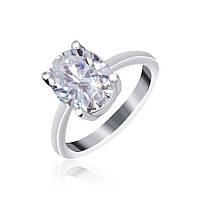 Серебряное кольцо с фианитом Эдвена 000025508 17.5 размера