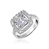 Серебряное кольцо с фианитами Николь 000025509 18 размера