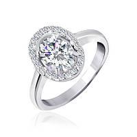 Серебряное кольцо с фианитами Матильда 000025510 18 размера