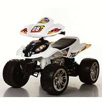 Детский квадроцикл на аккумуляторе M  ER-1-2 черно-белый, мягкие EVA колёса