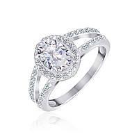 Кольцо из серебра с фианитами Люсия 000025512 17.5 размера
