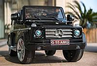 Детский электромобиль G 55 ELRS-2 AMG Mercedes Gelandewagen Черный кожаное сиденье автопокраска