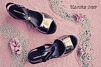Женские лаковые босоножки черные с серебром на платформе натуральная кожа 39