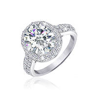 Серебряное кольцо с цирконием Аглая 000025535 18 размера