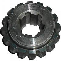 Полумуфта привода вакуумных насосов от ГМШ (внутренняя, 6 шлицов) МЖТ-11