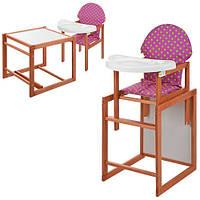 Стульчик для кормления со столиком Трансформер М V-013-4